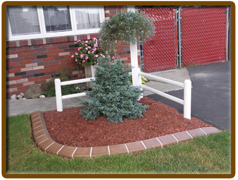Landscaping Concrete Curbing Borders Saratoga Springs Clifton Park Albany Bethlehem  Ravina Selkirk